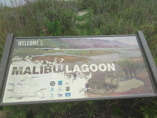 Malibu Lagoon State Beach sign