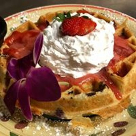 North Wales, PA: Very Berry Waffle: Loaded w/ fresh berries /  can be made vegan/gluten free