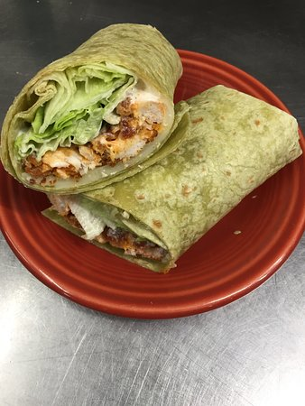 Manchester, ME: Buffalo Chicken Tenders in a wrap!
