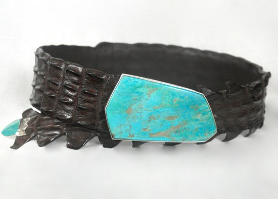 Douglas Magnus - Kingman Turquoise and Australian Crocodile Belt