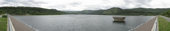 Innerstetalsperre: A panoramic view of the dam.