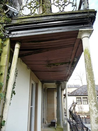 Alston, UK: Not very welcoming terrace area