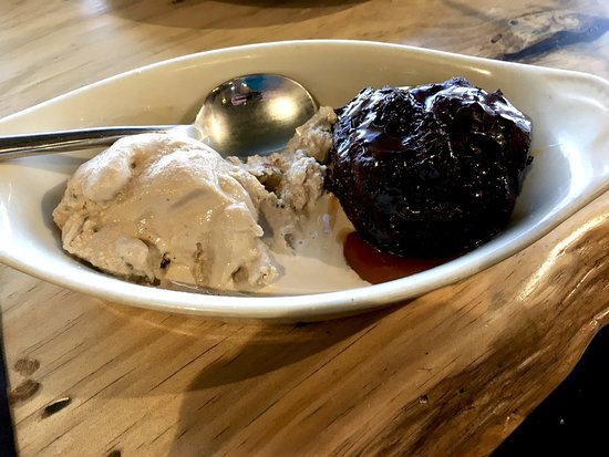 Del Mar, CA: Chocolate Bread Pudding with Salted Caramel Sauce & Maple Pecan Ice-cream.
