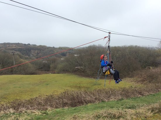 Penryn, UK: He cannot stand or walk, but at BF Adventure he can fly!