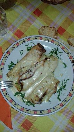 Squinzano, Italie : Crespelle di zucchine e ricotta capolavoro delle mani della sig.ra Ivana.