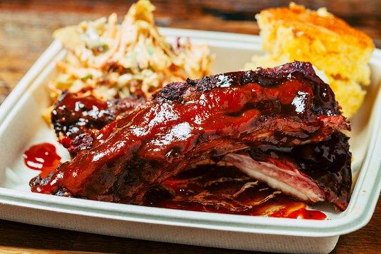 Highland, CA: Smoked BBQ Beef Ribs at JBQ at San Manuel Casino.