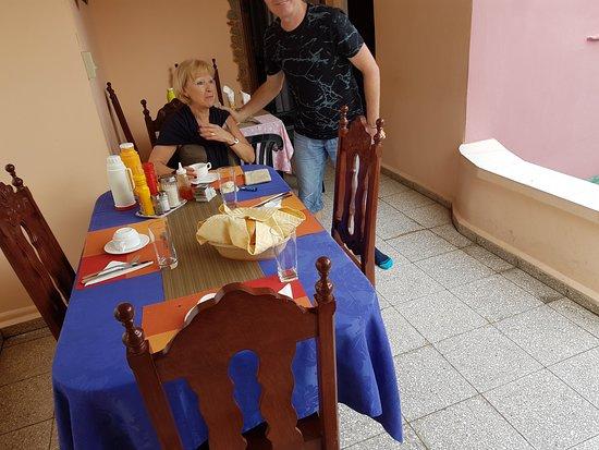 Villa La Roca: Dernier petit déjeuner