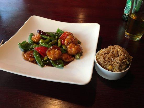 Waynesboro, VA: General Tso's shrimp with fried rice