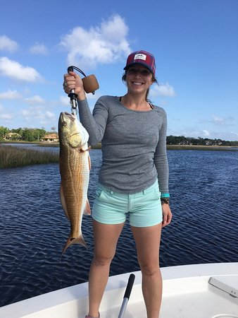 Jacksonville Beach, Floride : Catching Reds with Capt John Rock n Reel Charters
