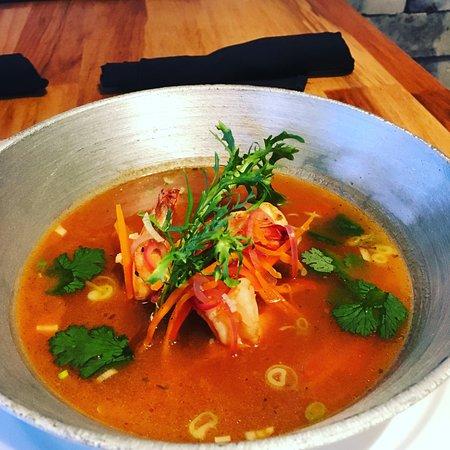 Graffiti Restro Cafe and Wine Bar: Thai Shrimp Soup