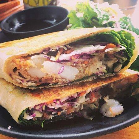 PuddleFish Brewery: Shrimp Po Boy Burrito