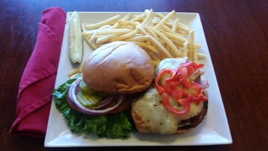 Innsider Bar and Grill: Santa Fe Chicken Sandwich Grilled Chicken with Teriyaki and roasted peppers
