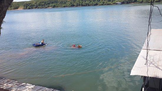 Fronteira, MG: Cavalo nadando