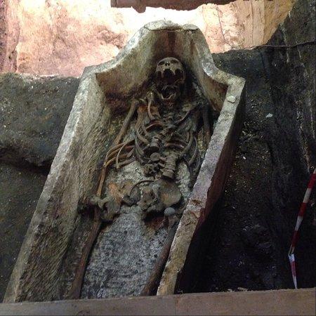 Соборная площадь  Скелет погребенного знатного московита, найденных при  раскопках на территории Чудового монастыря 6a8bd4e49e6