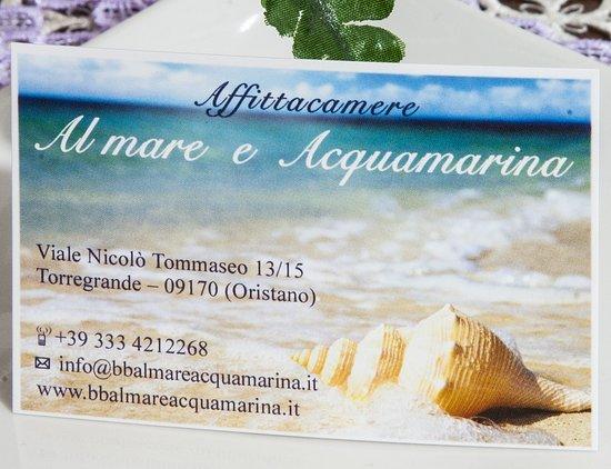 Torre Grande, Италия: Biglietto contatti