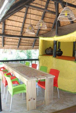 Hluhluwe, South Africa: Breakfast area