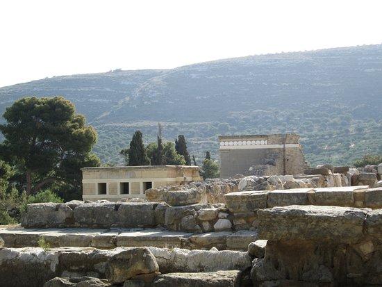 Knossos Archaeological Site: La vue partielle du site