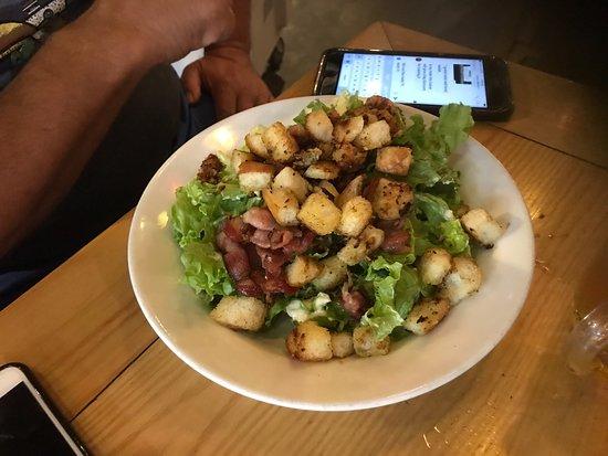 Red snapper: Chicken Caesar salad