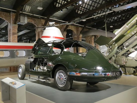 Patchway, UK: Bristol 401 sports saloon, 173 helicopter and 'Bloodhound' missile.