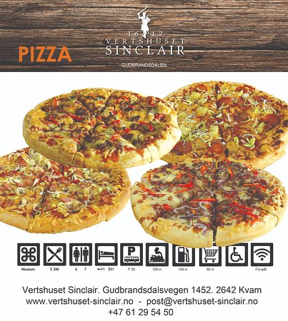 Kvam, Noruega: Pizza fra Vertshuset Sinclair