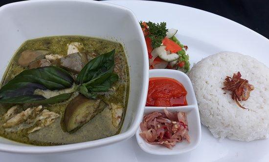 Thai Green Curry Of Chicken Eggplant Basil Steam Rice Indonesian Pickle Sambal Matah And Ba Picture Of Pakis Ayu Warung Bar Restaurant Pemuteran Tripadvisor