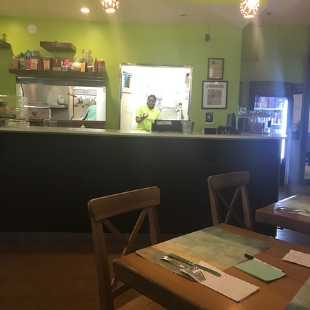 Hidden gem, lovely Haitian and Caribbean  food, vegan-friendly, fish and poultry too