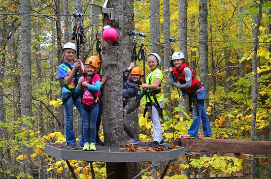 Scaly Mountain, NC: Family fun on the Brave Indian Children's and Families Obstacle and Zipline Course!