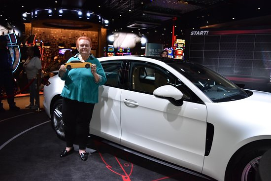 Highland, CA: Club Serrano member Eloys won a 2018 Porsche Panamera at San Manuel Casino on April 19, 2018.