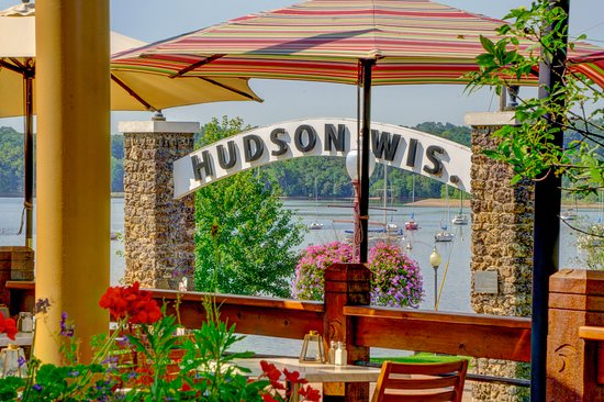 Hudson, WI: Patio Season overlooking the beautiful St. Croix River