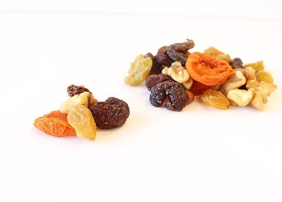 Waterford, CA: We also make snack and trail mixes, like this California Grown mix.