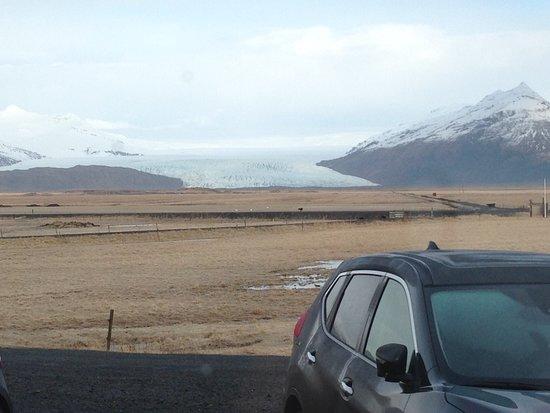 Hornafjorour, Islandia: Vista del glaciar desde la entrada