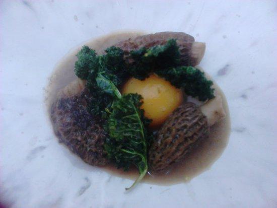Riff: Morcheln mit Grünkohl