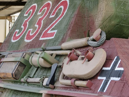 Musée des blindés : German armour and markings - I think this was on a Panzer sitting in the yard.