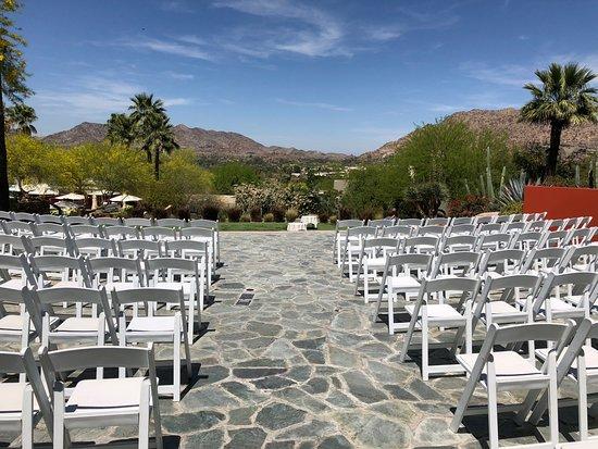Paradise Valley, AZ: The wedding area