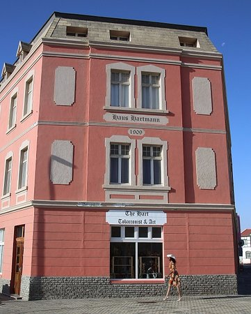 Luderitz, Namibia: The stunning Haus Hartmann, a landmark of the early diamond era architecture.