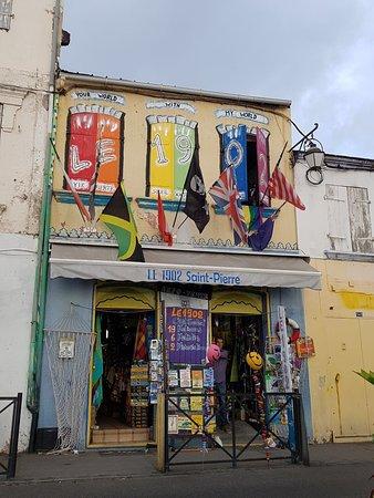 Saint-Pierre, Мартиника: La façade très originale !