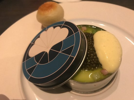 Eleven Madison Park: Caviar done in an eggs bendict profile