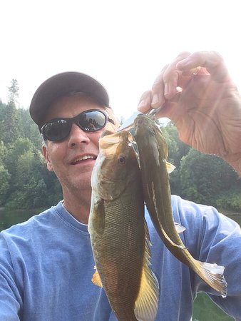 Oakland, OR: So many bass don't be surprised if you catch two on one lure!