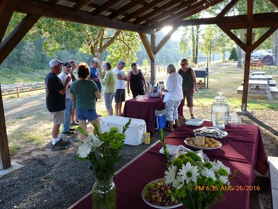 Oakland, OR: Wineries regularly bring in their wines for sale and tasting right in the park. It's so fun!