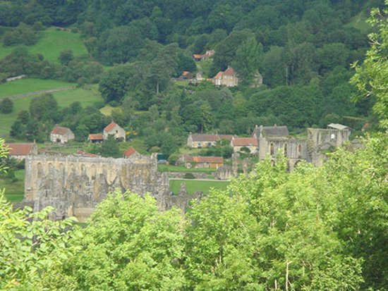 Helmsley, UK: from the terrace viewing all these little houses