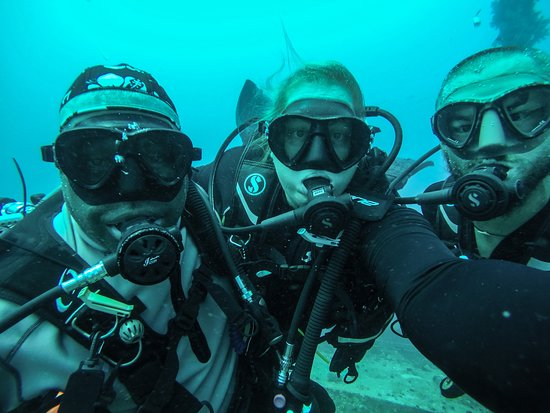 Coral Coast, فيجي: Us with divemaster Blue