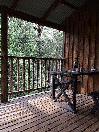 Moina, Australia: Morning coffee on our private balcony, with views