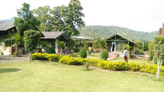 Melghat Tiger Reserve, อินเดีย: outside view from cottage at shahanur eco tourism area