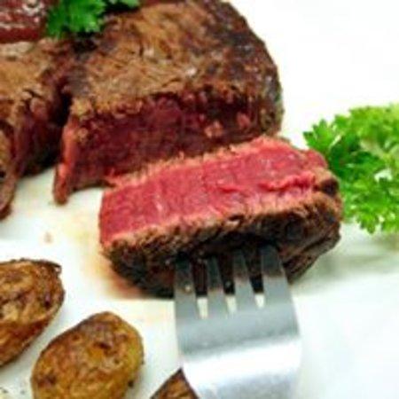 Rocroi, Francja: pavé de cœur de rumsteck ,viande française