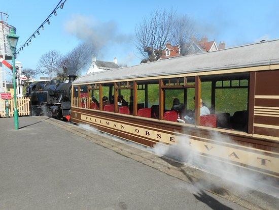 Swanage Railway: The Devon Belle Pullman observation car.