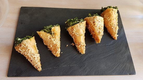 The highlight of our lunch. The triangle shaped spinach pies.