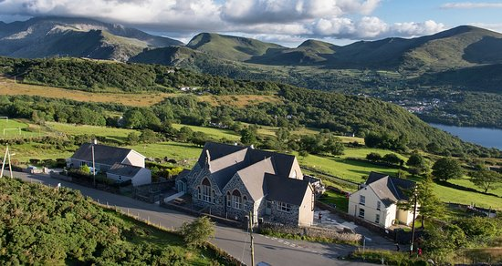 Gwynedd, UK: Birds Eye View of Lodge Dinorwig