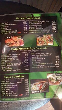 Villa Rica, GA: menu
