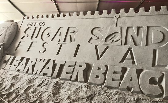 Pier sugar sand sculpture marquee picture of