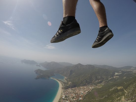 Sky Sports Paragliding: Awesome photo Arda took of my son.